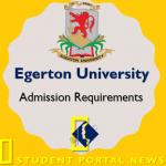 Egerton University Entry Requirements 2018/2019