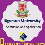 Egerton University Admission and Application Form 2018/2019