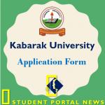 Kabarak University Application Forms for UG and PG