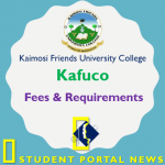 Kafuco Courses and Fees andEntry Requirements