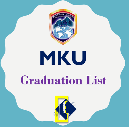 Download MKU Graduation List August and December 2020/2021
