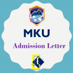 MKU (Mount Kenya University) Admission Letter 2019/2020