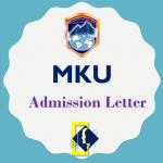 MKU (Mount Kenya University) Admission Letter 2019/2020