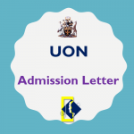 Download UON Admission Letters 2018/2019