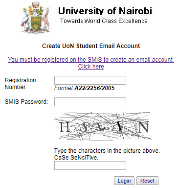 How to create UON Email Address Signup