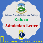 Kaimosi Friends University College Admission Letters 2018/2019