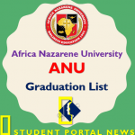Africa Nazarene University Graduation List 2018/2019