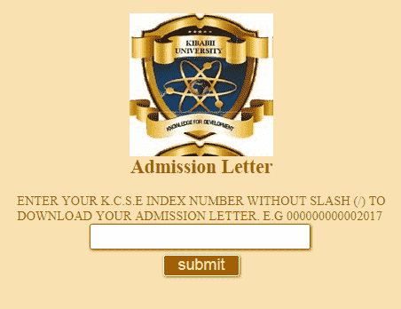 Download and Print KIMU Admission Letters 2020
