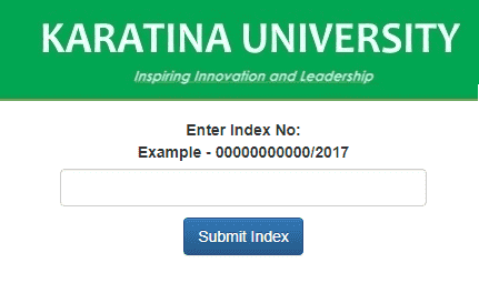 Karatina University KUCCPS Admission Letters 2020