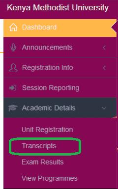 How to checkKEMU Academic Transcripts