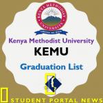 KEMU Graduation List 2018 Download