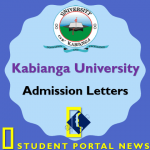 Kabianga University Admission Letters 2019/2020