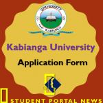 Kabianga University Admission Form 2019