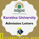 KARU Admission Letters 2019