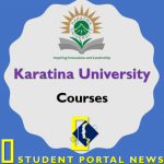 Karatina University Courses and Cluster Points