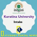 Karatina University Intakes