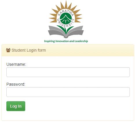 How to login intoKaratina University Student Portal?
