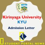 KYU Admission Letter 2019/2020