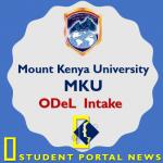 Mount Kenya University ODeL 2018 Intake