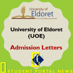 Download KUCCPS UOE Admission Letter PDF