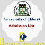 Eldoret KUCCPS Admission List 2019