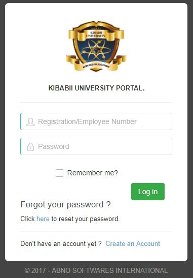 Kibabii University Online Registration student portal