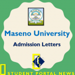 Maseno University Admission Letters 2019
