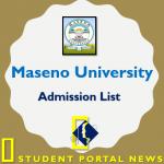 Maseno University Admission List 2019