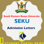 Download SEKU Admission Letters 2019/2020