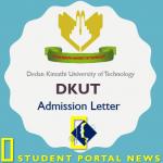 Dedan Kimathi University admission letters 2019