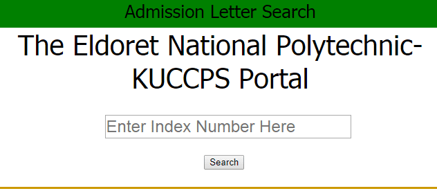 Eldoret National Polytechnic-KUCCPS Admission Portal