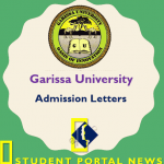 Garissa University College Admission Letters 2019 Download