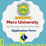 Meru University Application Form 2019/2020